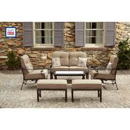 La-Z-Boy Outdoor Hally 4pc Seating Set with Lighted Table Bundle at Kmart.com