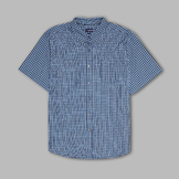 Basic Editions Men's Button-up Collared Plaid Shirt at mygofer.com