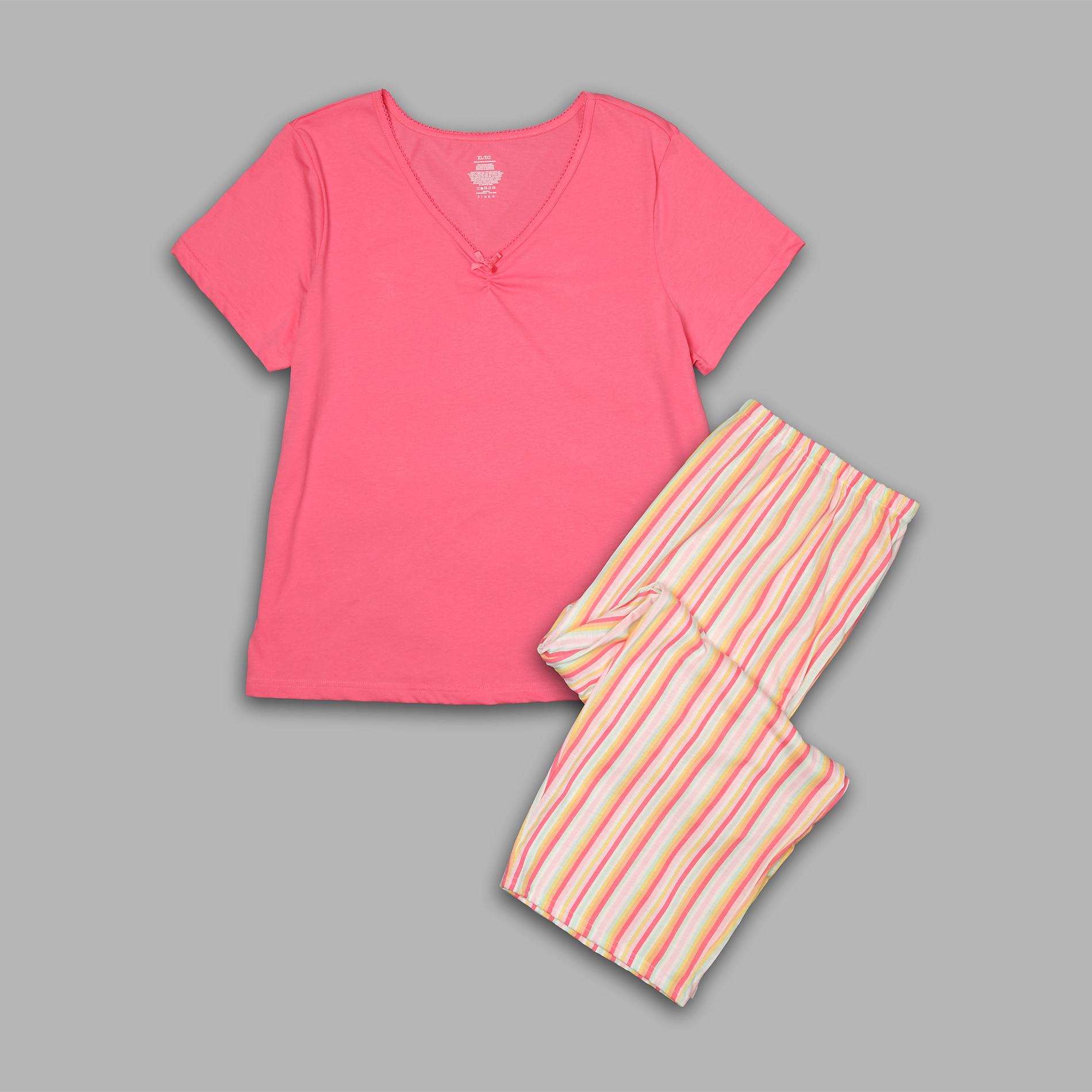 Pink K Women's Pajama Shirt & Capris at Kmart.com