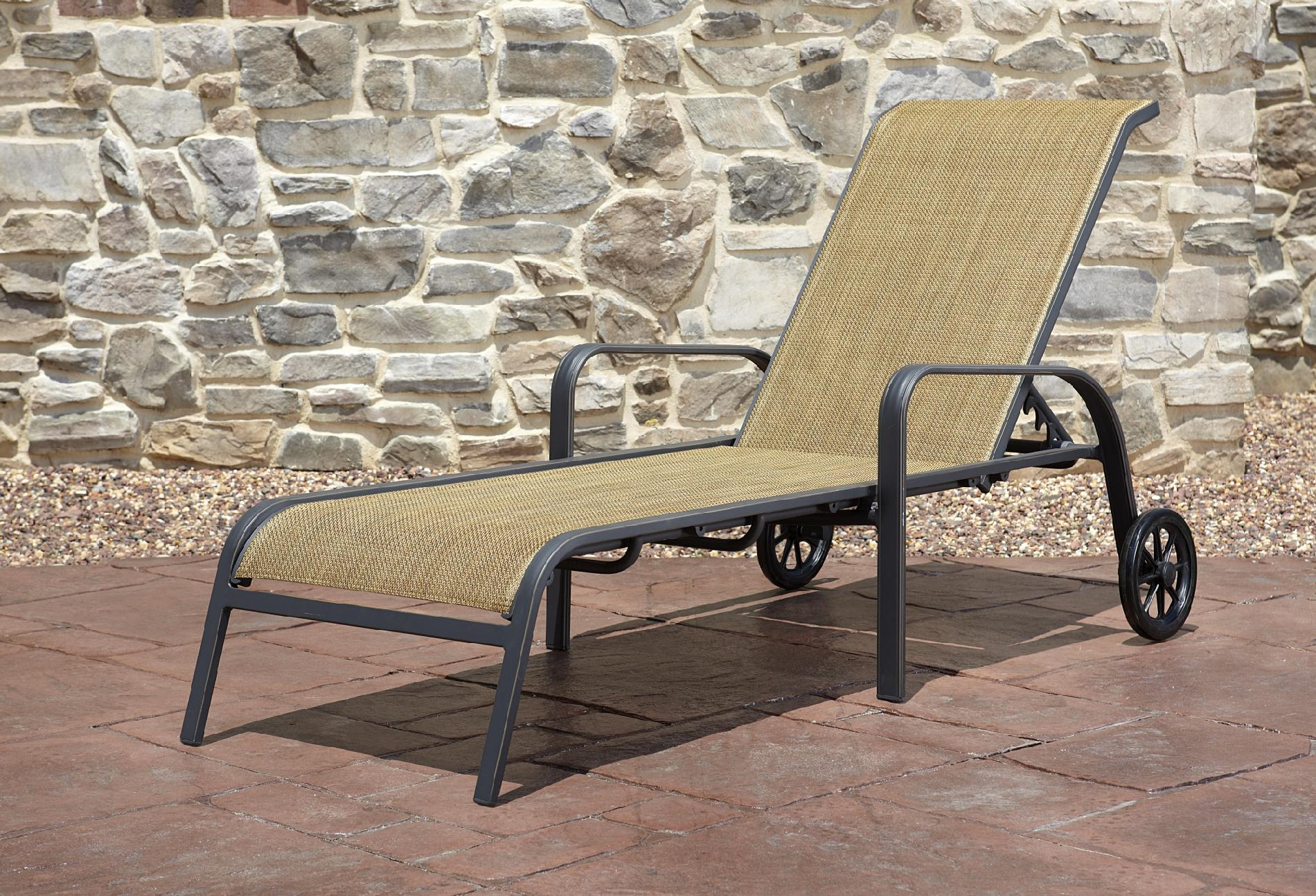 Agio International Panorama Sling Chaise Lounge With