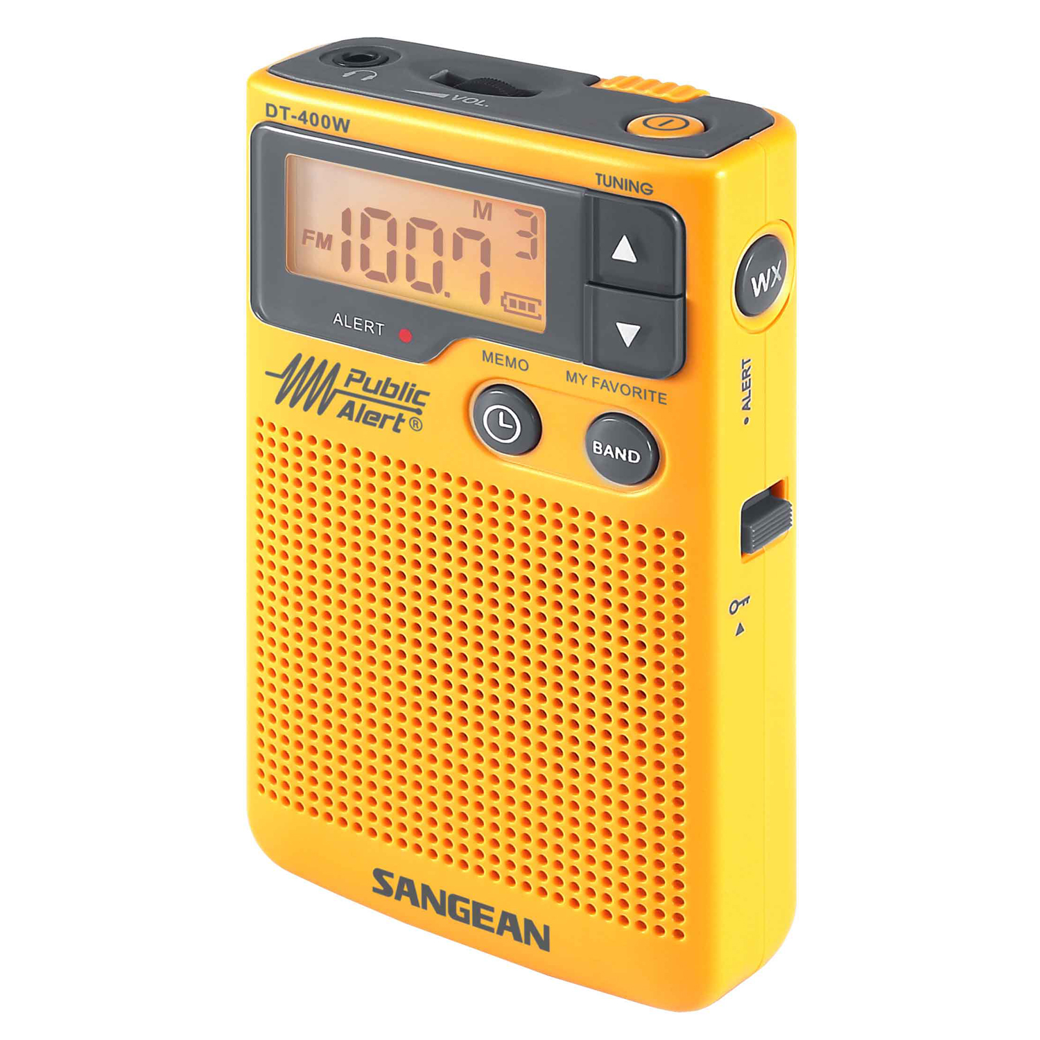 Sangean AM/FM Digital Weather Alert Pocket Radio