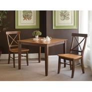 International Concepts Set of 3 pcs - 36x36 Dining Table with 2 X-Back Chairs at Kmart.com