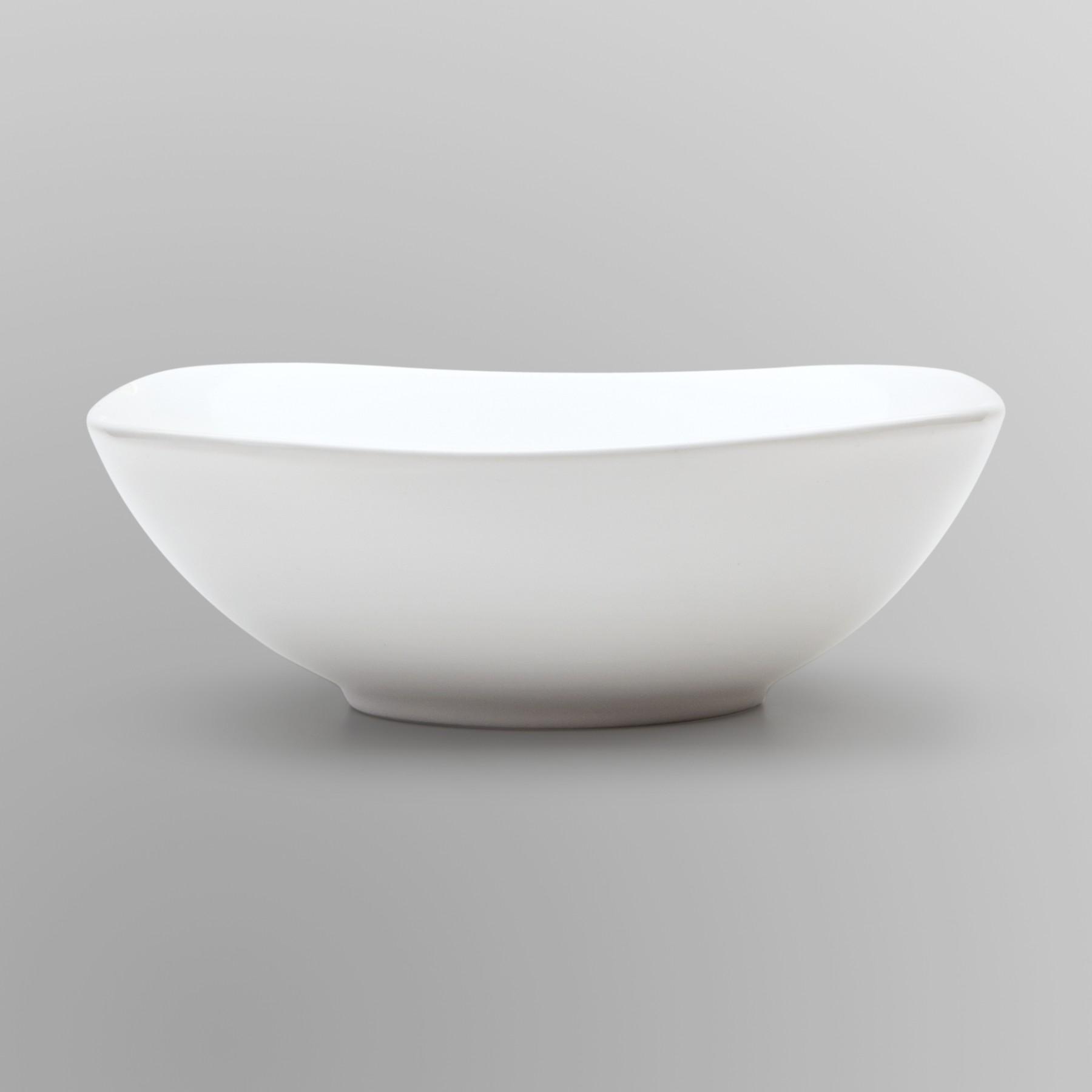Essential Home Soft Square Bowl- White