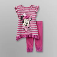 Disney Baby Minnie Mouse Infant & Toddler Girl's Striped Top & Leggings at Kmart.com