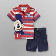 Disney Baby Mickey Mouse Infant & Toddler Boy's Polo Shirt & Denim Shorts at Kmart.com
