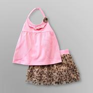 WonderKids Infant & Toddler Girl's Halter Top & Tutu Skirt - Cheetah at Kmart.com