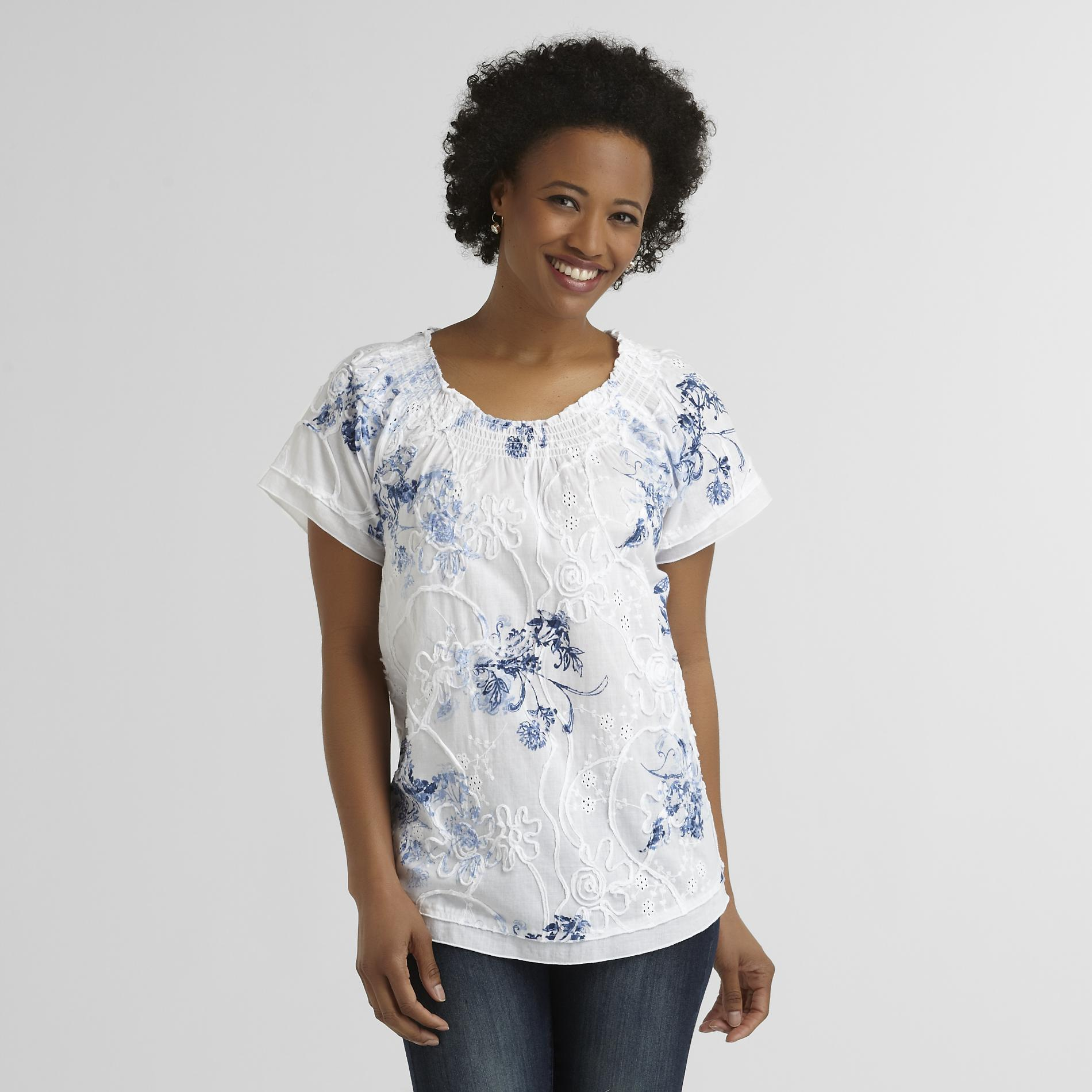 Laura Scott Women's Peasant Blouse - Soutache at Sears.com