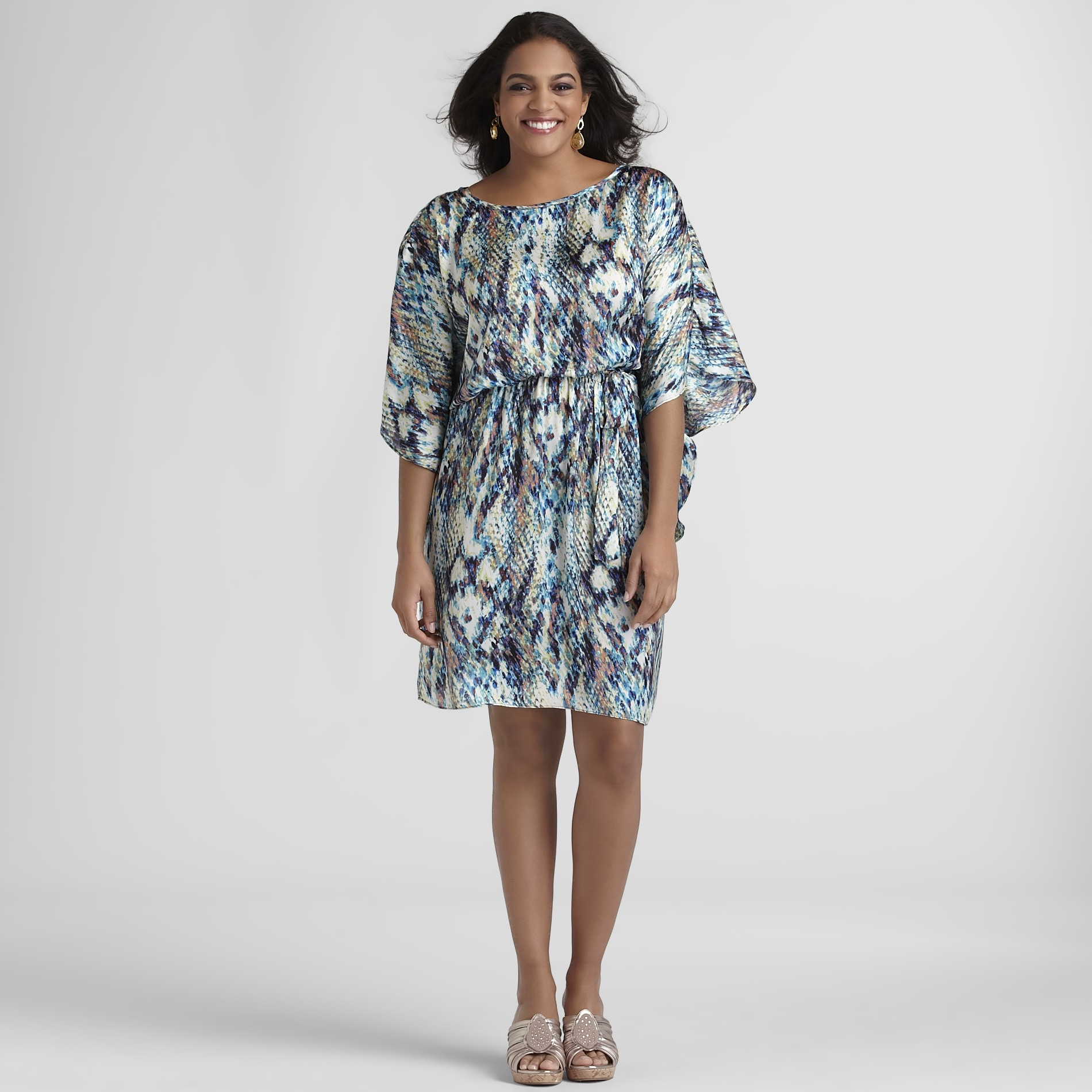 JBS Women's Plus Butterfly Dress - Snakeskin Print at Kmart.com