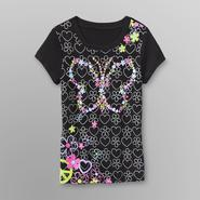 Route 66 Girl's Graphic T-Shirt - Hearts/Flowers at Kmart.com