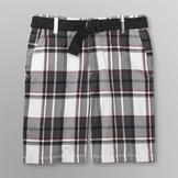 Route 66 Men's Belted Shorts - Plaid at mygofer.com