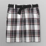 Route 66 Men's Belted Shorts - Plaid