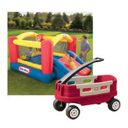 Jump 'n Slide Bouncer and Wagon Bundle at Kmart.com