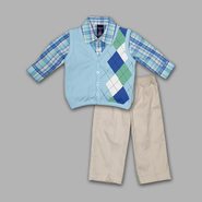 Jonathan Strong Infant & Toddler Boy's 3 Pc Argyle Pique Vest/Pants Set at Sears.com