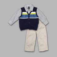 Jonathan Strong Infant & Toddler Boy's 3 Pc Stripe Pique Vest/Pants Set at Sears.com