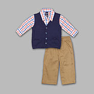 Jonathan Strong Infant & Toddler Boy's 3 Pc Pique Vest/Pants Set at Sears.com