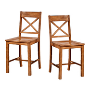 Walker Edison 26 in. Solid Wood Antique Brown Barstools (Set of 2) at Kmart.com
