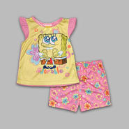 Nickelodeon Infant & Toddler Girl's 2 Pc SpongeBob Squarepants 'Adorable' Sleep Set at Kmart.com
