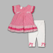 WonderKids Infant & Toddler Girl's 2 Pc Gingham Top & Pants Set at Kmart.com