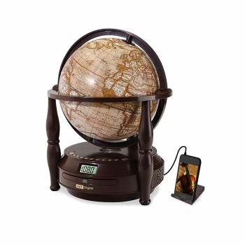 Antique World Globe CD Player with Radio and