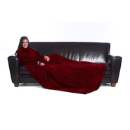 The Slanket The Original Blanket With Sleeves – Floral Leaf Red at Kmart.com