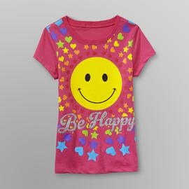 Route 66 Girl's Graphic T-Shirt - Smiley Face at Kmart.com