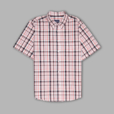Basic Editions Men's Short Sleeve 'Easy Care' Plaid Button-front Shirt at mygofer.com