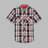 TSA by Truth Men's Short Sleeve Woven Plaid Shirt at mygofer.com