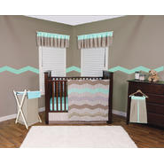 Cocoa Mint 3 Piece Crib Bedding Set & Window Valance Bundle at Kmart.com