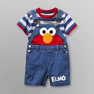 Sesame Street Elmo Infant Boy's Overalls Shorts Set at Kmart.com