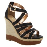 Soda Women's Dress Sandal Slat - Black at mygofer.com