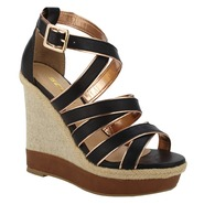 Soda Women's Dress Sandal Slat - Black at Kmart.com