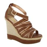 Soda Women's Dress Sandal Slat - Tan at mygofer.com