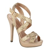 Soda Women's Dress Sandal Runway - Penny Glitter at mygofer.com