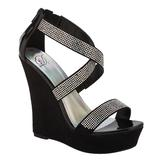 Soda Women's Dress Sandal Salon - Black at mygofer.com