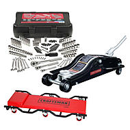 Craftsman Floor Jack with Creeper & Mechanic Tool Set...
