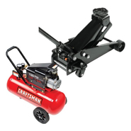 Craftsman Floor Jack with Creeper & Air Compressor Bu...