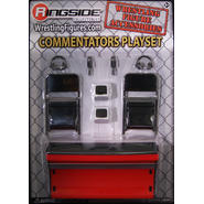 WWE Commentators Playset (Red) - Ringside Exclusive Toy Wrestling Action Figure Accessories Pack at Kmart.com