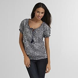 Classic Elements Women's Smocked Peasant Top at Sears.com