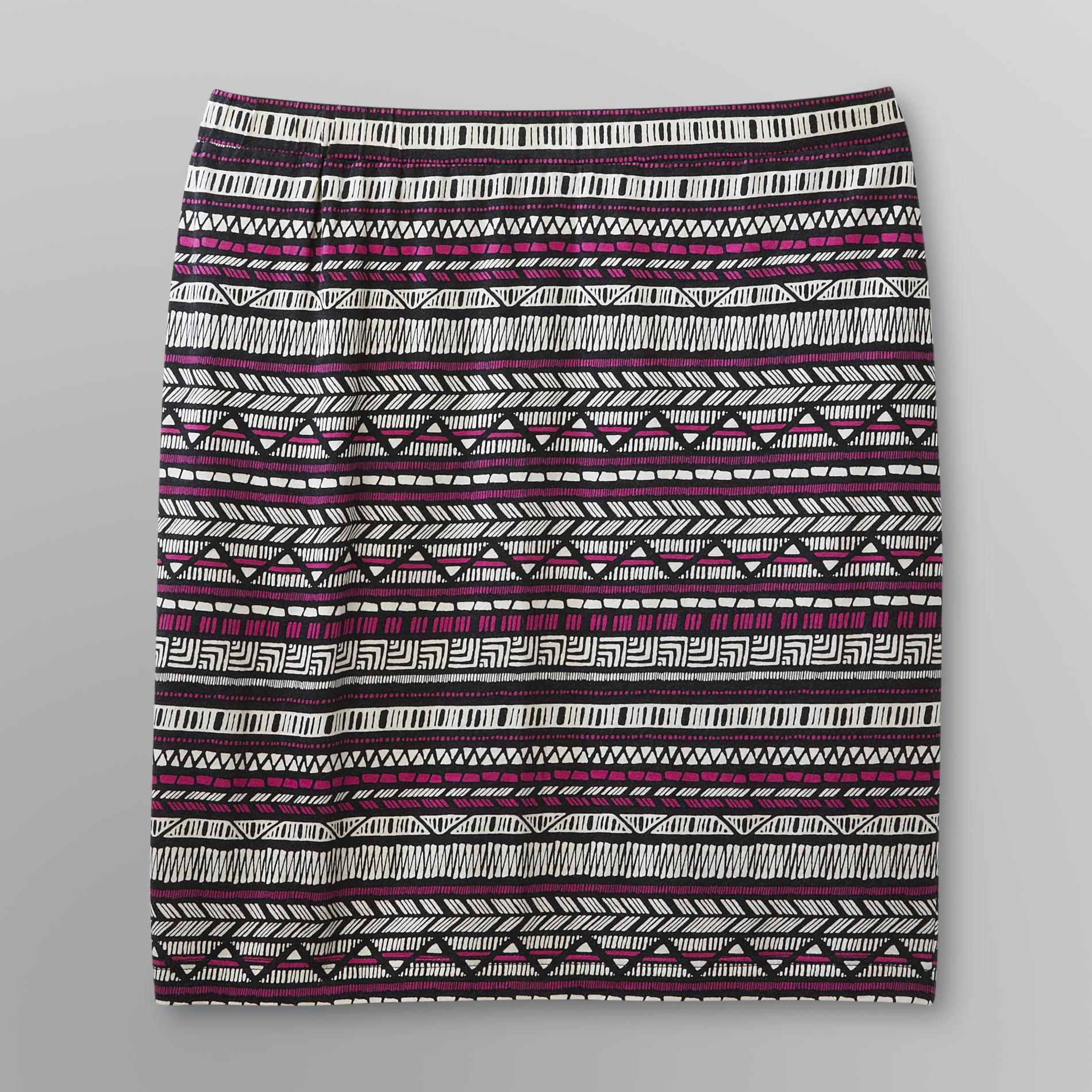 Love Your Style, Love Your Size Women's Plus Knit Skirt - Tribal Print at Kmart.com