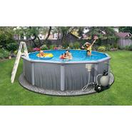"Swim Time Martinique 24 ft Round 52"" Deep 7-in Top Rail Swimming Pool Package at Sears.com"
