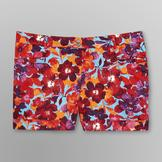 Love Your Style, Love Your Size Women's Plus Buckle Shorts - Floral at mygofer.com