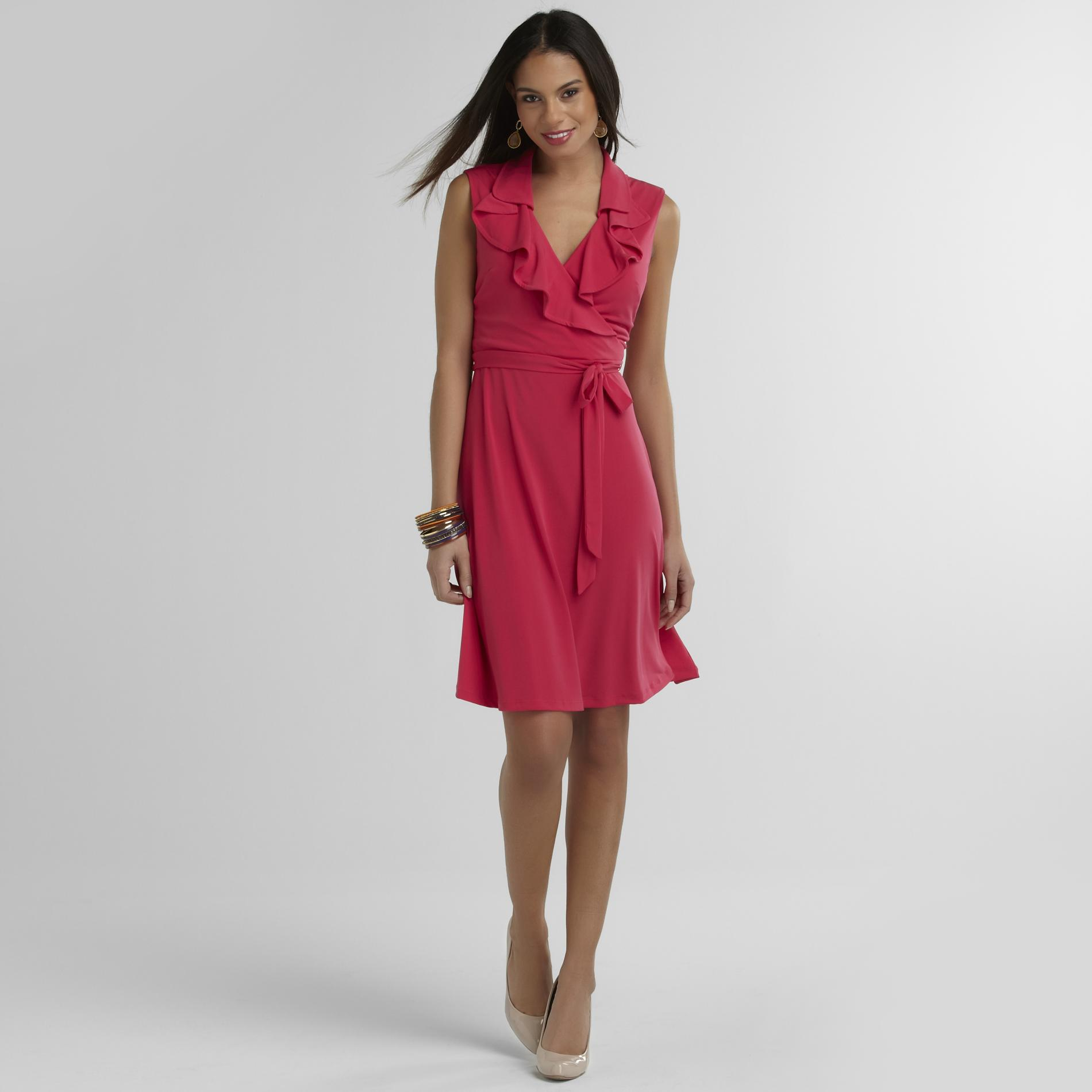 Studio 1 Women's Faux Wrap Dress at Sears.com