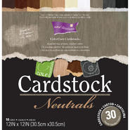 "Darice Core'dinations Core Essentials Cardstock Pad 12""X12"" 30/Pkg-Neutrals at Kmart.com"