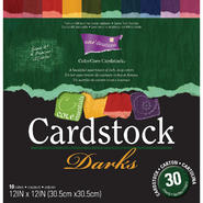 "Darice Core'dinations Core Essentials Cardstock Pad 12""X12"" 30/Pkg-Darks at Kmart.com"