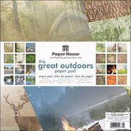 "Paper House Double-Sided Paper Pad 12""X12"" 24/Sheets-Great Outdoors 16 Flat & 8 Foil at Kmart.com"