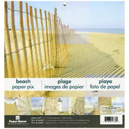 "Paper House Double-Sided Paper Pad 12""X12"" 12/Sheets-Beach 8 Flat & 4 Glittered at Kmart.com"