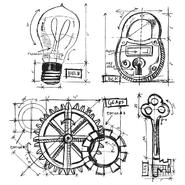 Tim Holtz Cling Rubber Stamp Set Industrial Blueprint at Kmart.com