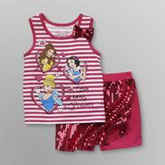 Disney Baby Princess Toddler Girl's Tank Top & Sequin Shorts at Kmart.com