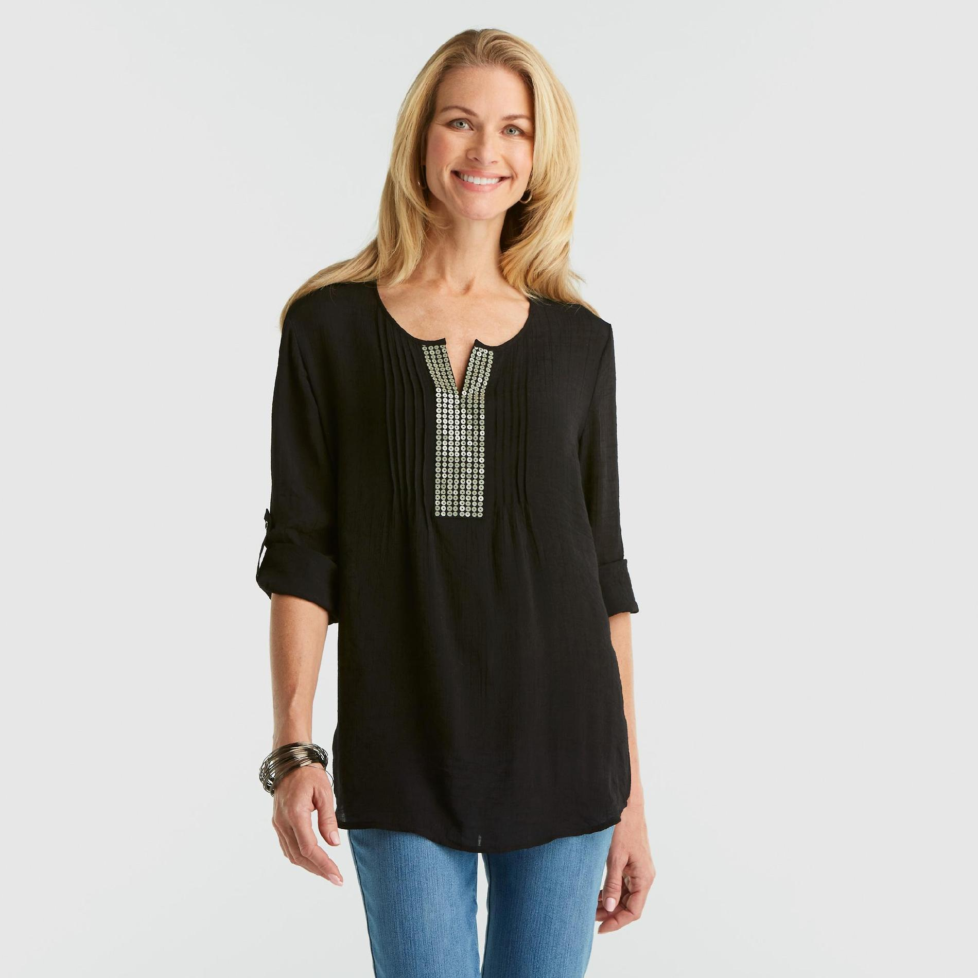 Laura Scott Women's Sequin Tunic at Sears.com