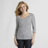 Attention Women's Surplice Top at Kmart.com